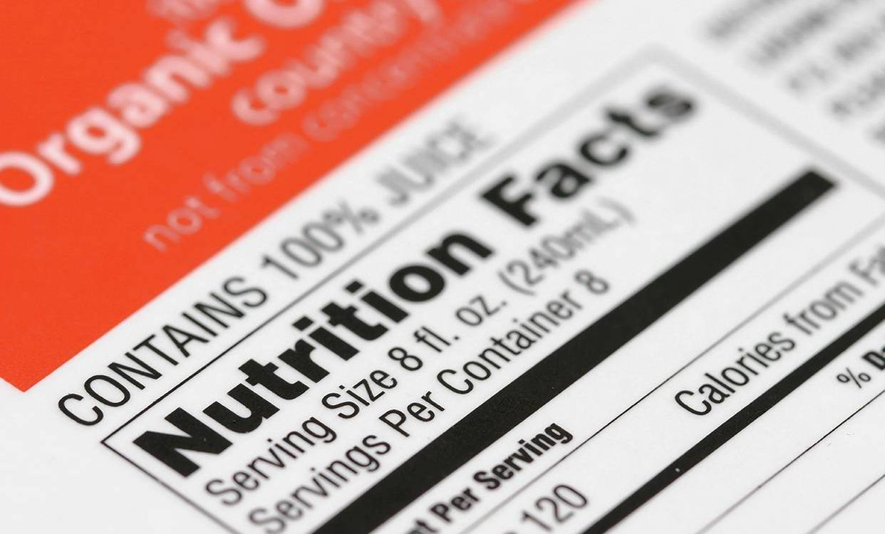 nutrition labels - ingredients coding and marking